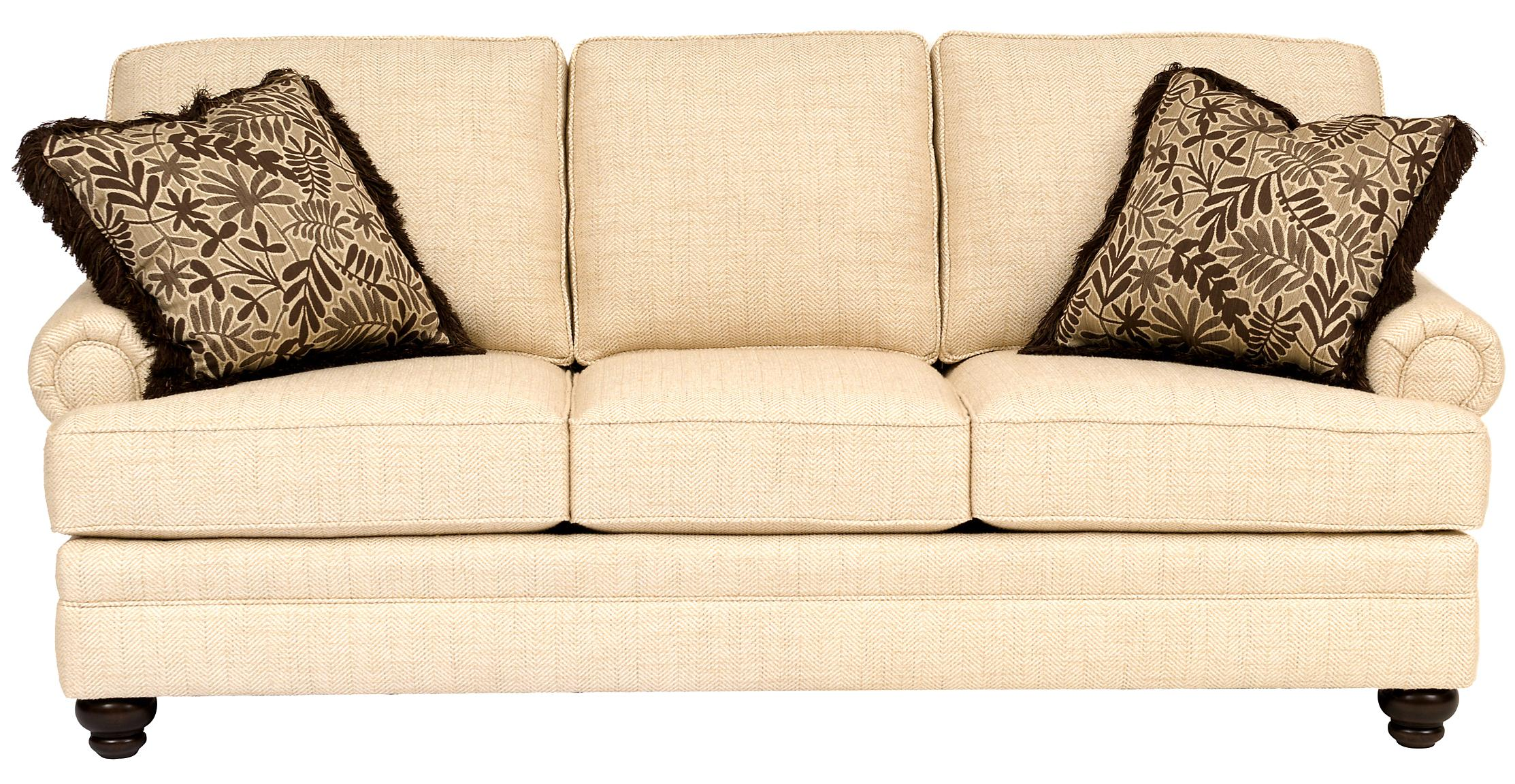 Smith Brothers Build Your Own 5000 Series Sofa With Turned Legs Westrich Furniture Liances Sofas