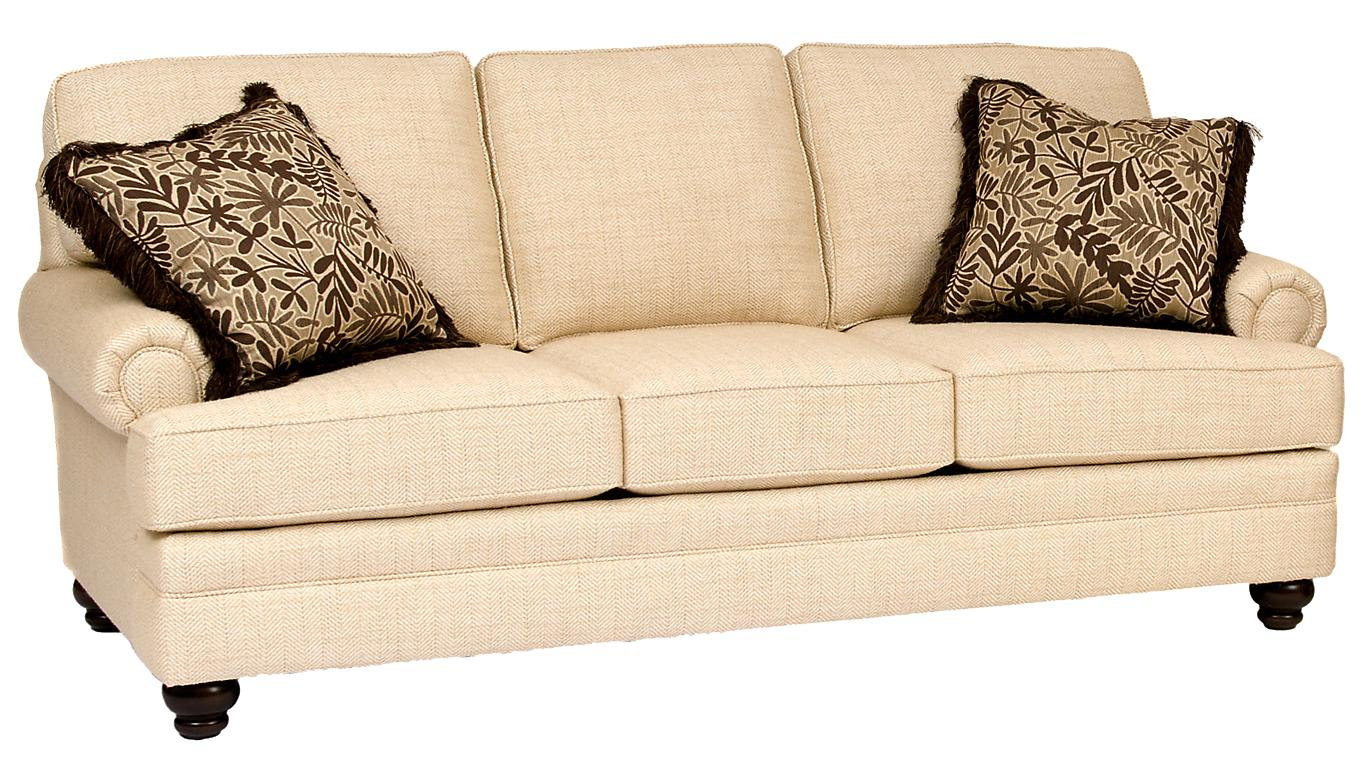 Build Your Own 5000 Series Sofa With Turned Legs By Smith Brothers Wolf Furniture