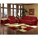 Peter Lorentz Build Your Own (8000 Series) Classic Casual Sofa with Sock Arms - Shown with Coordinating Chair and Ottoman