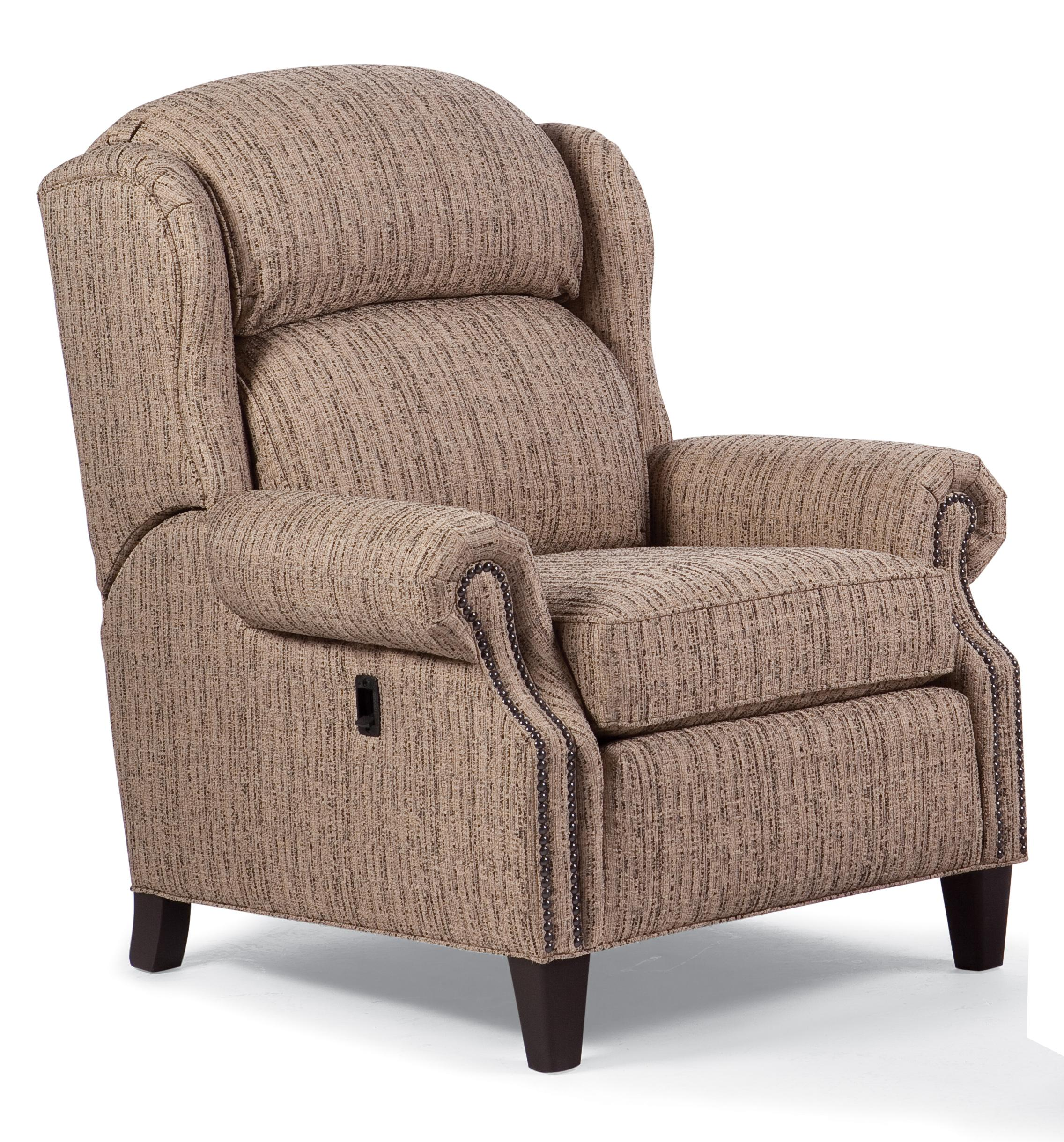 Recliners Traditional Tilt Back Chair With Nailhead Trim