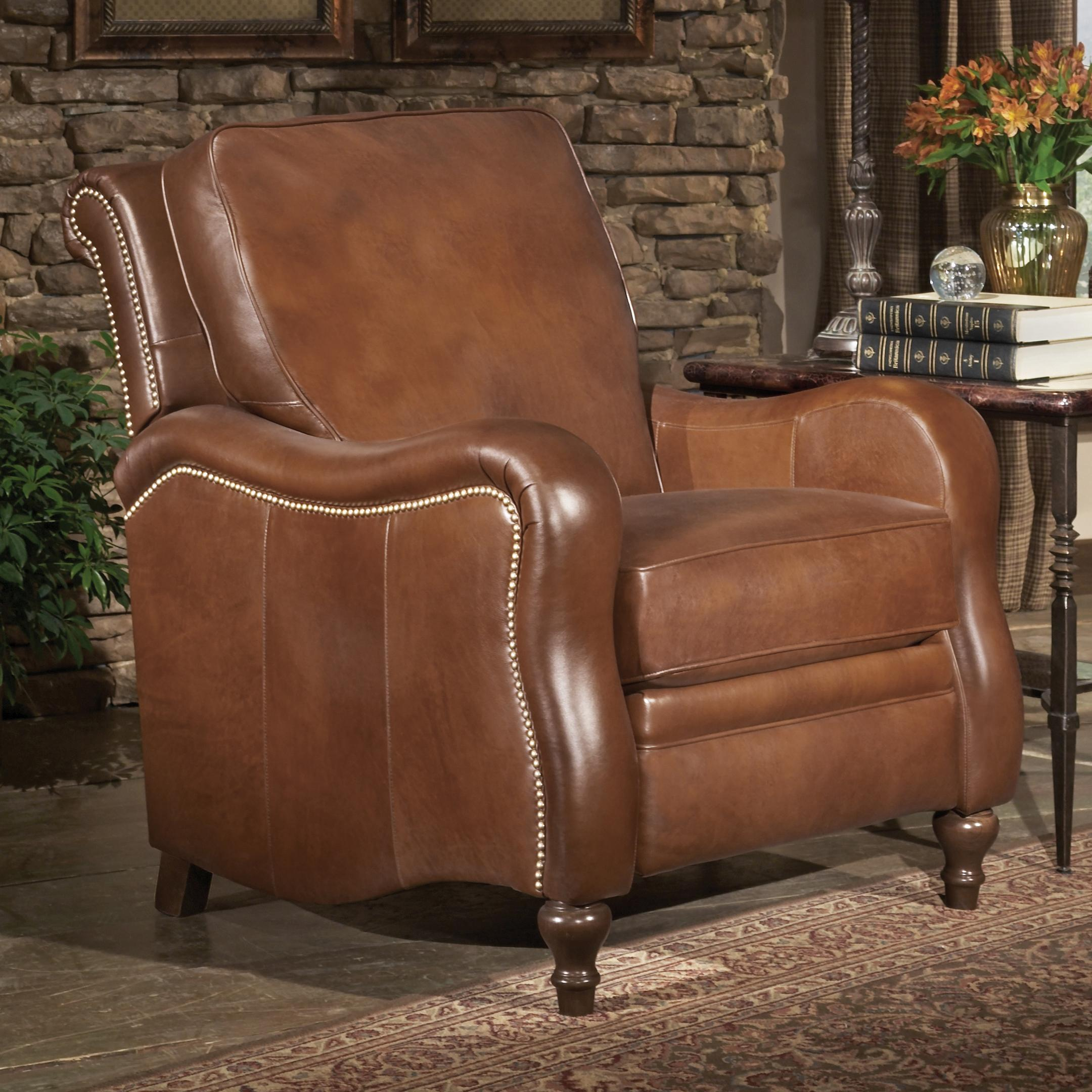 Smith Brothers Recliners Traditional High Leg Recliner with