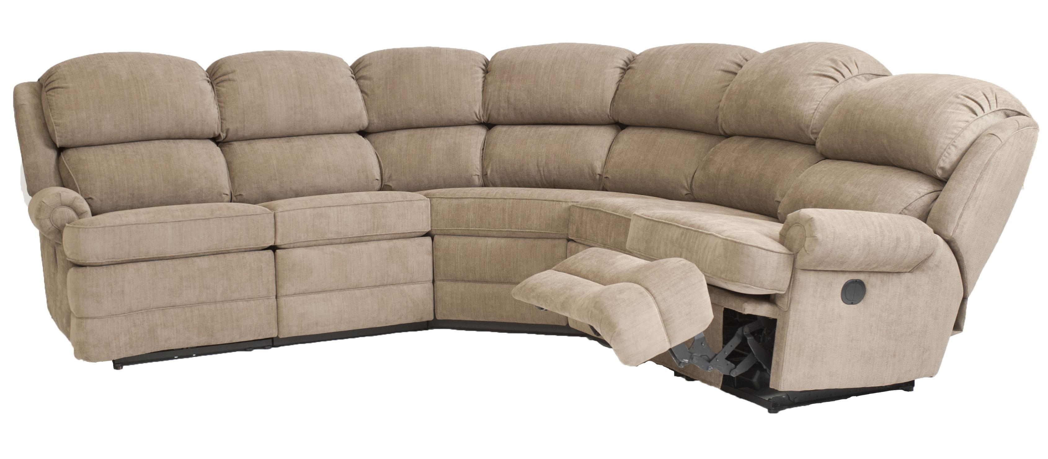 Smith Brothers Smith Brothers Transitional 5 Piece Reclining Sectional Sofa With Small Rolled