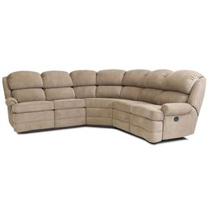 Smith Brothers Smith Brothers Reclining Sectional Sofa