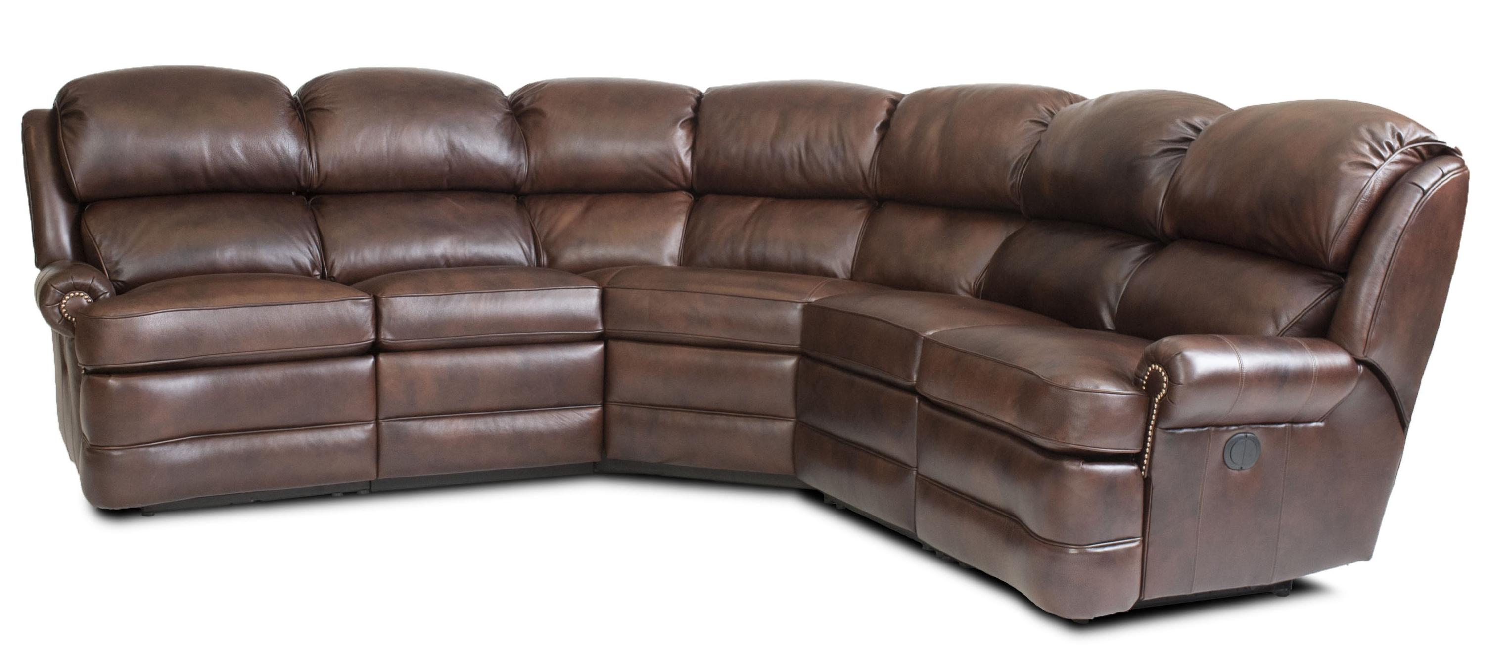 Smith Brothers Transitional 5 Piece Reclining Sectional Sofa With Small Rolled Arms By Smith