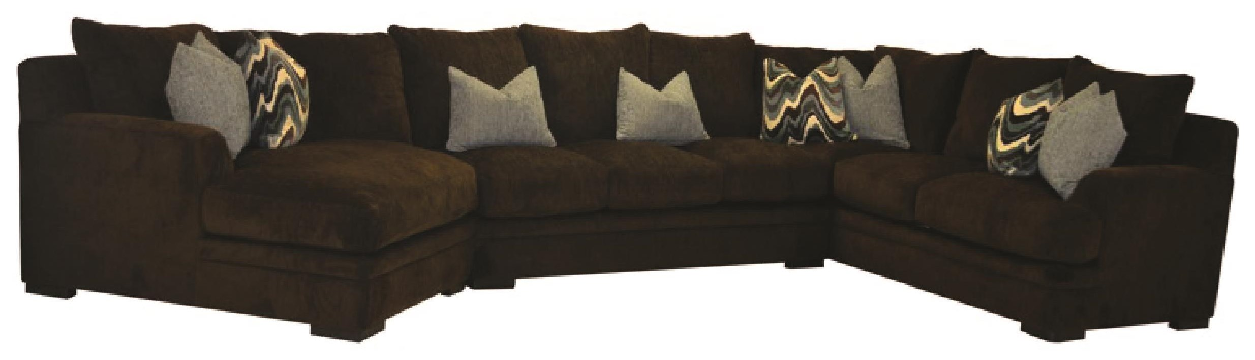 3 PC Sectional with Cuddler