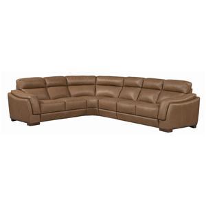 Sofitalia Brindisi Leather Sectional Sofa