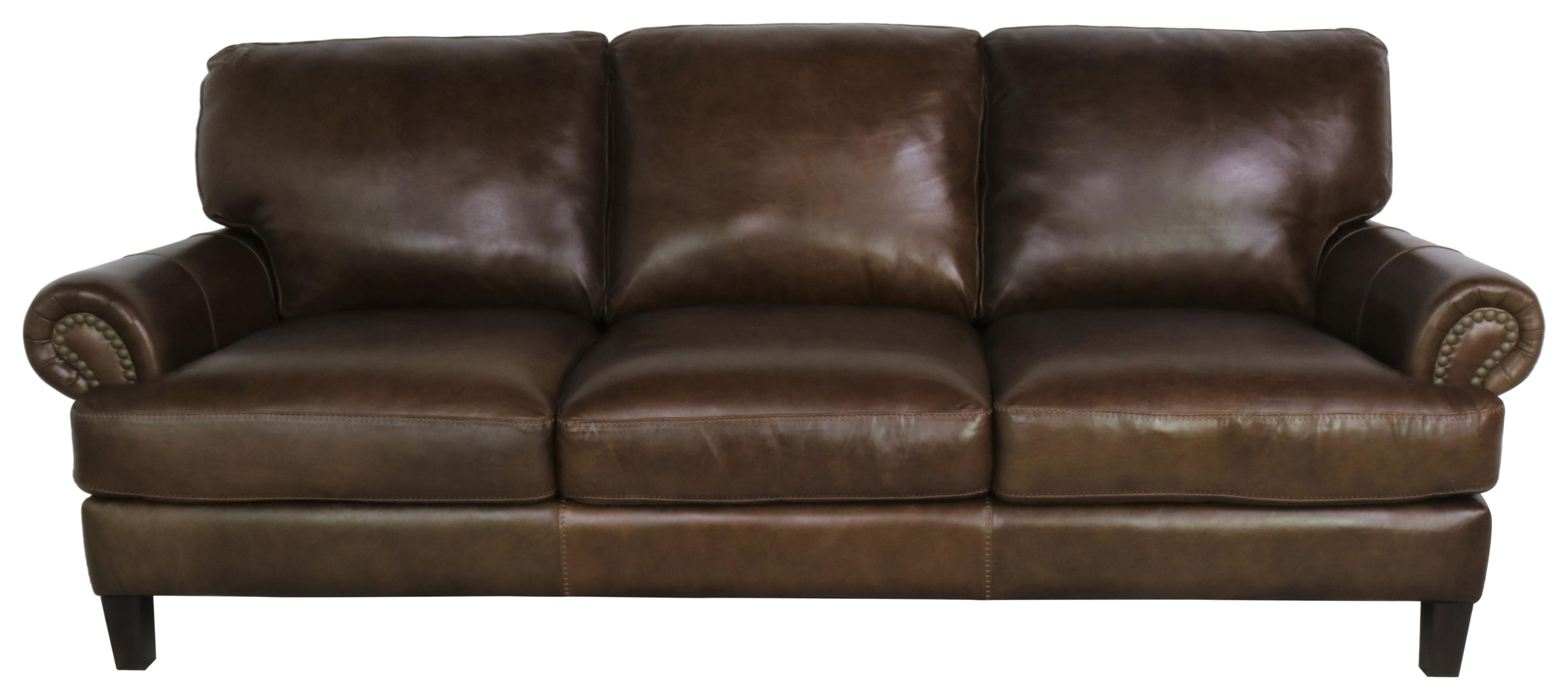 7386 Italian Leather Sofa by Giovanni Leather at Sprintz Furniture