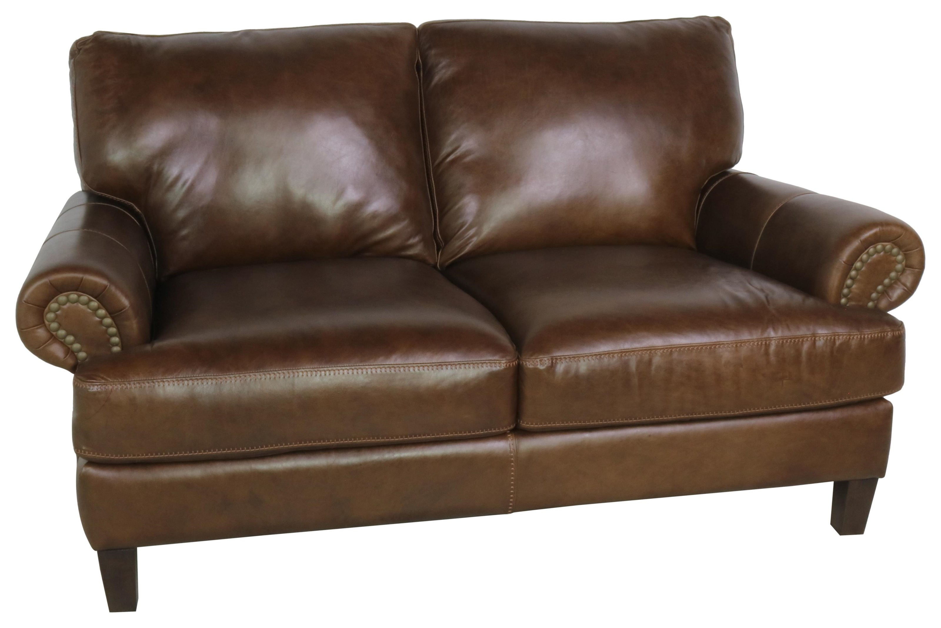 7386 Italian Leather Loveseat by Giovanni Leather at Sprintz Furniture