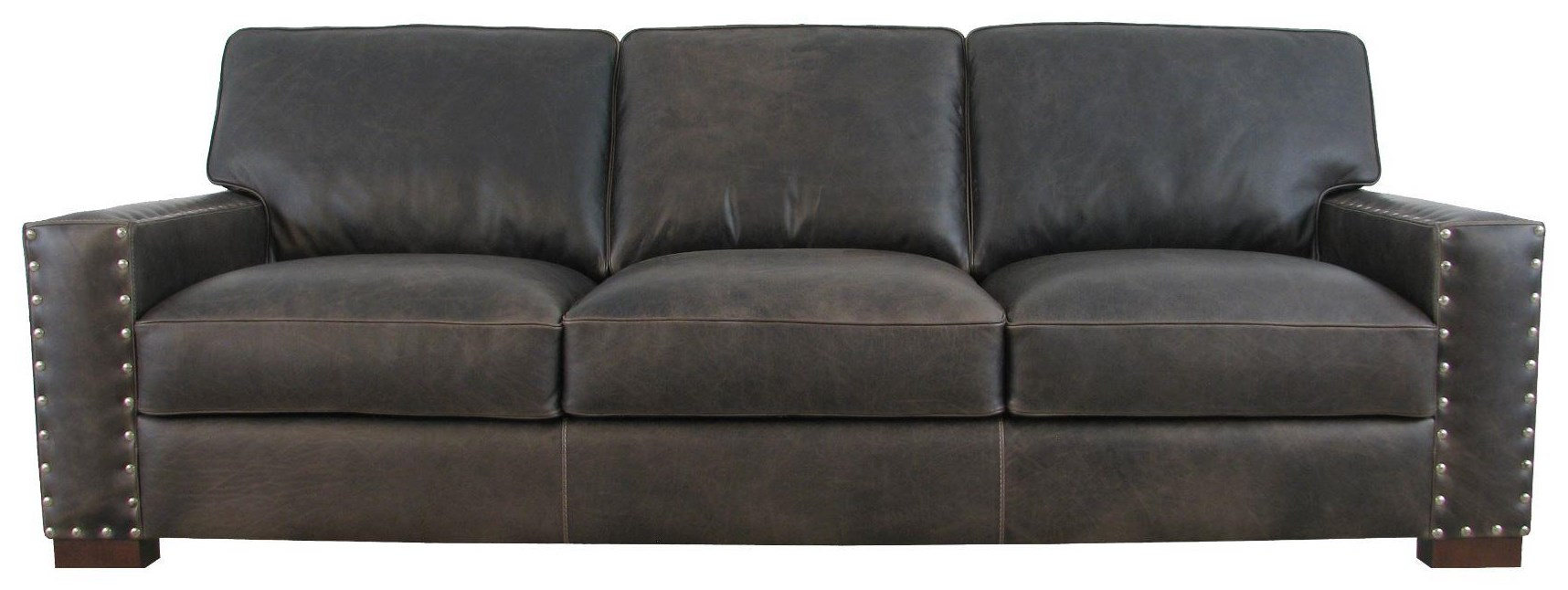 7594 Italian Leather Sofa by Giovanni Leather at Sprintz Furniture