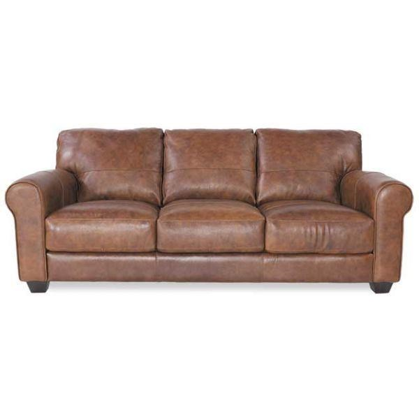 soft line 4452 leather sofa - hudson's furniture - sofas