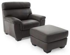 Softaly U222 Chair and Ottoman Set