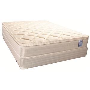 Solstice Sleep Products Brockton Queen Euro Top Mattress Set