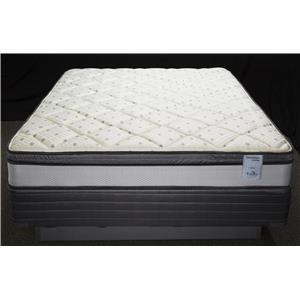 Solstice Sleep Products Veridian Aqua Queen Euro Top Mattress Set