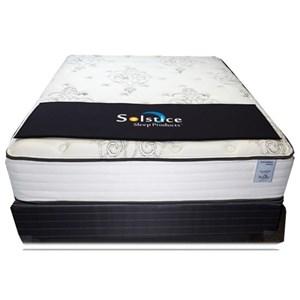 Solstice Sleep Products VeridianTourmaline Plush Full Plush Pocketed Coil Mattress Set