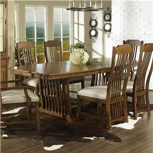 Morris Home Furnishings Craftsman Trestle Table