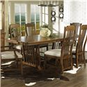 Morris Home Furnishings Craftsman Trestle Table - Item Number: 417-62B+T