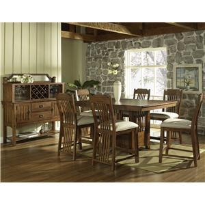 Morris Home Furnishings Craftsman 7 Pc. Pub Table Set