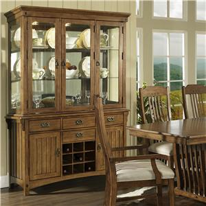 Morris Home Furnishings Craftsman Buffet & Hutch