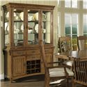 Morris Home Furnishings Craftsman Buffet & Hutch - Item Number: 417-71+72