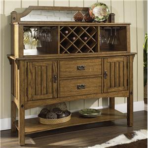 Morris Home Furnishings Craftsman Server with Hutch
