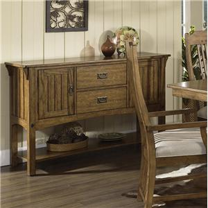 Morris Home Furnishings Craftsman Dining Server