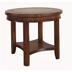Morris Home Furnishings Rhythm  Round End Table