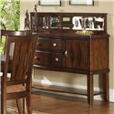 Morris Home Furnishings Rhythm  Dining Serving Table with Glass Back