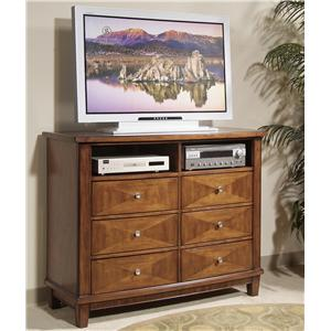 Somerton Runway Media Chest of Drawers