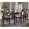 Morris Home Furnishings Signature Upholstered Bar Chair - Shown with Bar Table