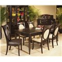 Morris Home Furnishings Signature Server with Black Glass - Shown with Table & Chair Set