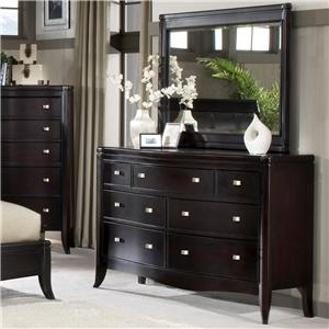 Morris Home Furnishings Signature Dresser & Mirror Combo