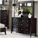 Morris Home Furnishings Signature 7 Drawer Dresser - Shown with Mirror
