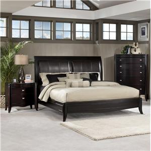 Morris Home Furnishings Signature Upholstered Sleigh Bed