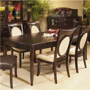 Morris Home Furnishings Signature Veneer Top Table