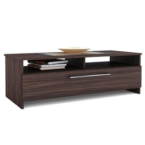 Living Room CT-8188 Woodland Coffee Table with Shelf and Drop Down Drawer by Sonax