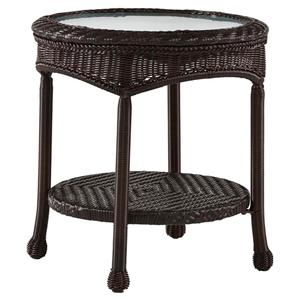 South Sea Rattan & Wicker Poolside Round End Table