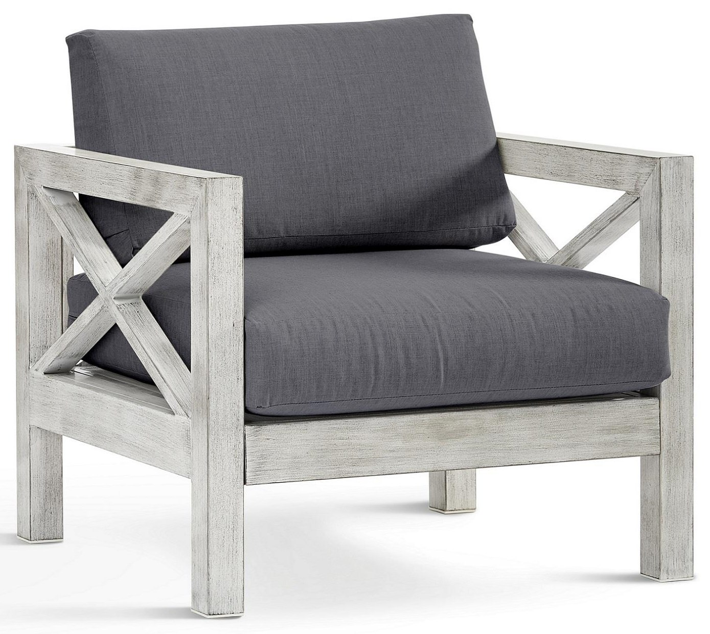 Farlowe Chair with Luxterior Cushion by South Sea Rattan & Wicker at Johnny Janosik