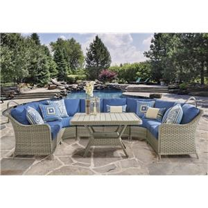 South Sea Rattan & Wicker Mayfair 2016 4PC Mayfair Sectional w/ 6 Pillows