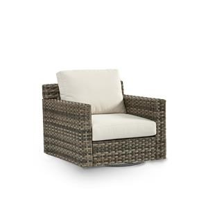 Swivel Glider With Luxterior Cushions