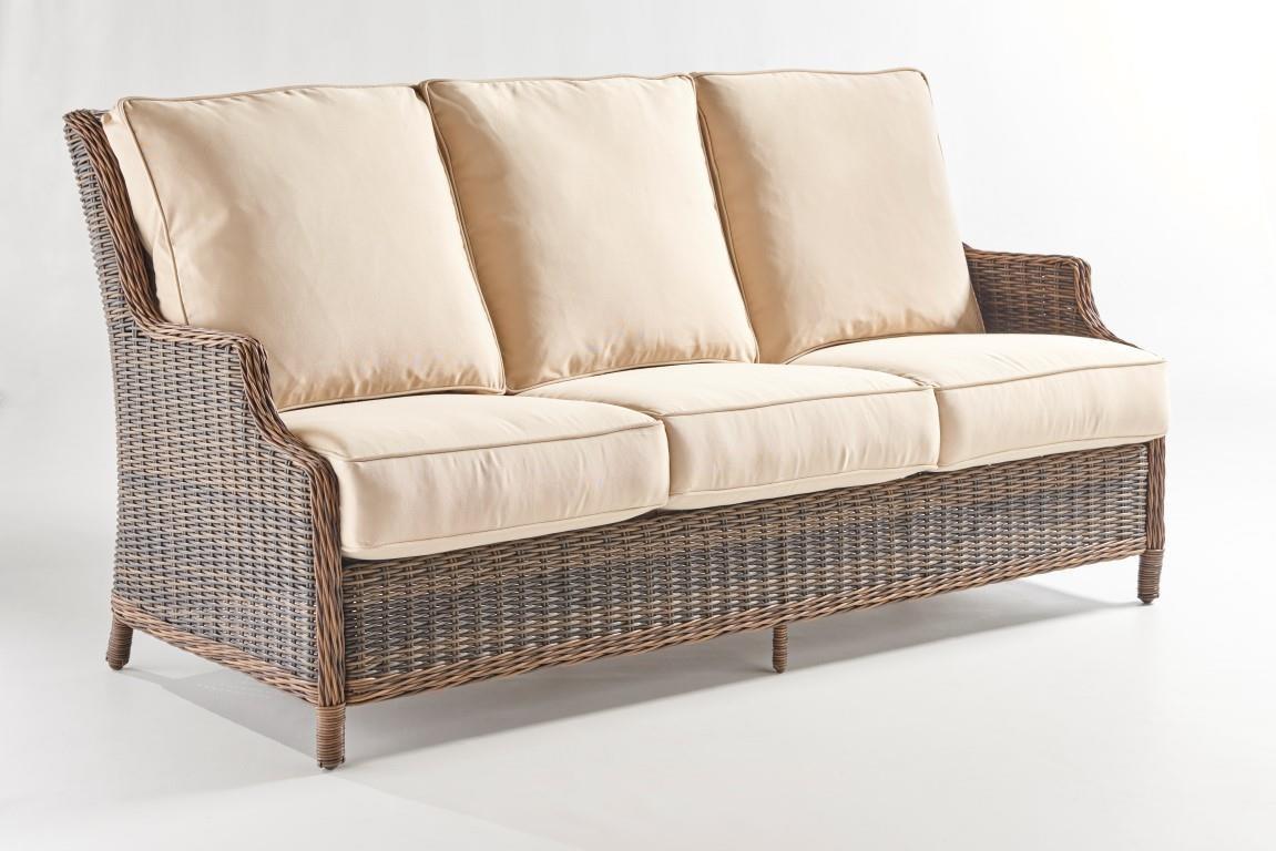 South Sea Rattan & Wicker Barrington Sofa - Item Number: 77703