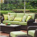 South Sea Rattan & Wicker St Tropez Outdoor Wicker Sofa