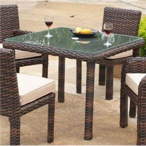 South Sea Rattan & Wicker St Tropez Square Dining Table
