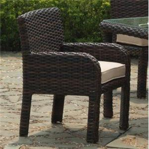 South Sea Rattan & Wicker St Tropez Arm Chair