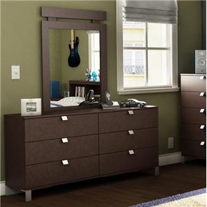Cakao Dresser and Mirror Set by South Shore