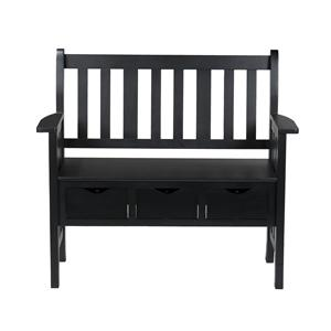 Southern Enterprises Benches 3-Drawer Country Bench
