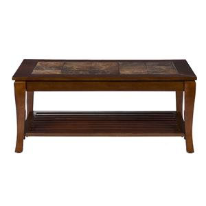 Southern Enterprises Cambria Cambria Brown Cherry Slate Cocktail Table