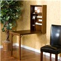 Southern Enterprises Desks and Chairs Wall Mounted, Fold-Out Convertible Desk