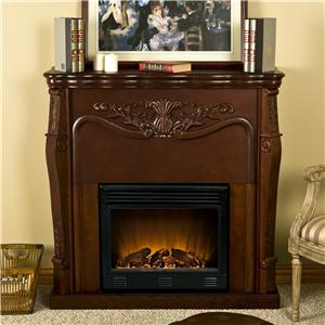 Southern Enterprises Fireplaces  Raphael Electric Fireplace