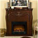 Southern Enterprises Fireplaces  Raphael Mahogany Electric Fireplace