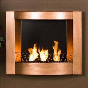 Southern Enterprises Fireplaces Lasalle Carved Mahogany Gel Fuel